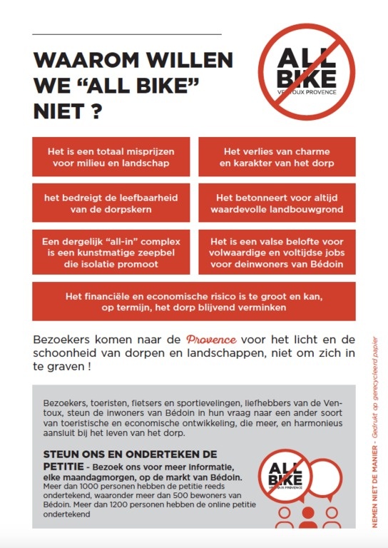 flyer STOP PROJECT ALL BIKE achterkant