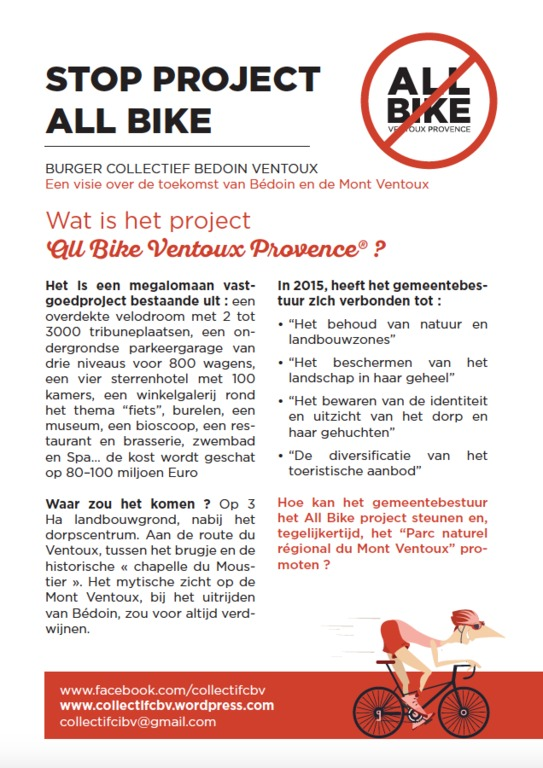 flyer STOP PROJECT ALL BIKE voorkant